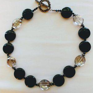 Custom Handmade Necklace Big Beads Crystals